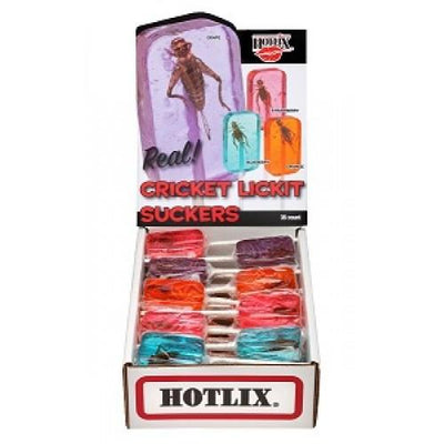 Hotlix Cricket Suckers - mixed box of 36 (9 of each flavour)