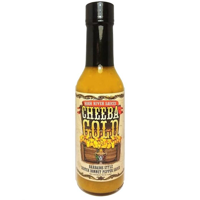High River Sauces Cheeba Gold Barbados Style Scotch Bonnet Sauce 148ml (5oz)