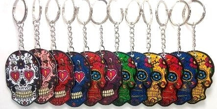 Calavera sugar skull key ring