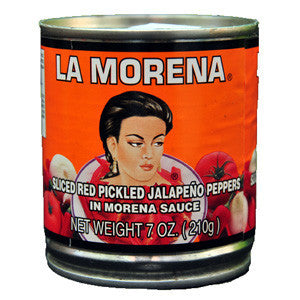 La Morena sliced RED Jalapeno in Sauce