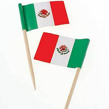 Mexican Flag Toothpix - 144ct