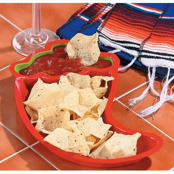 Plastic Chile Pepper shaped plates - 12 pack