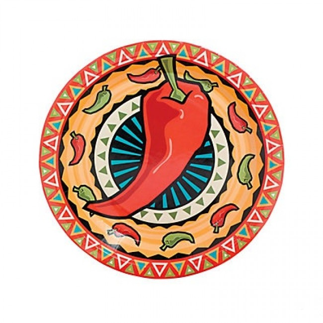 Southwest Chiles Dinner Plate - 8ct