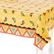 Southwest Chiles plastic table cover 54x108inches