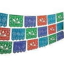 Plastic Papel Picado Banner 100ft