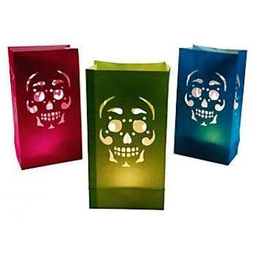 Sugar Skull Luminary Bags - Pack of 12