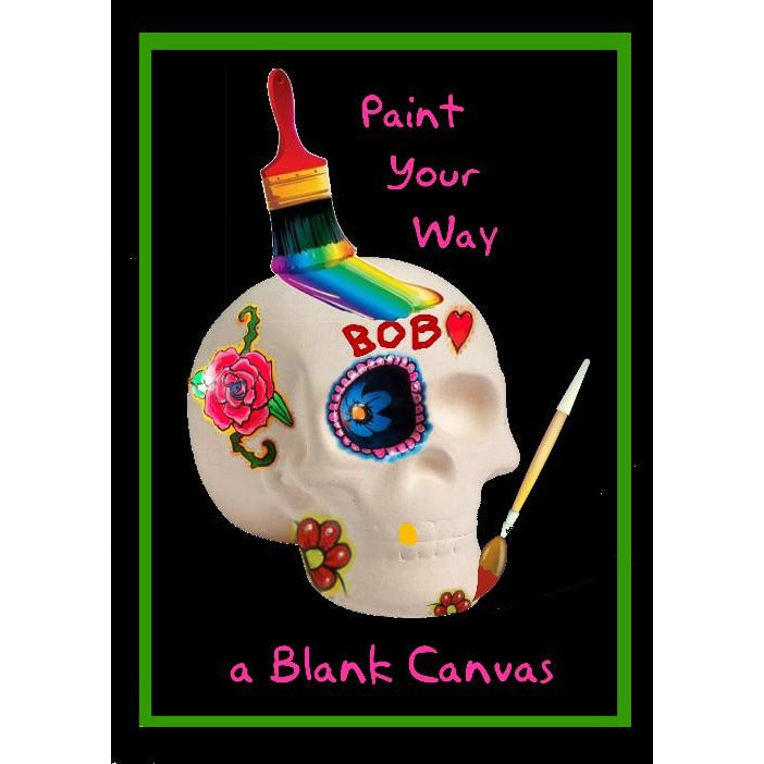 DIY Paint Your Own Ceramic Calavera Skull