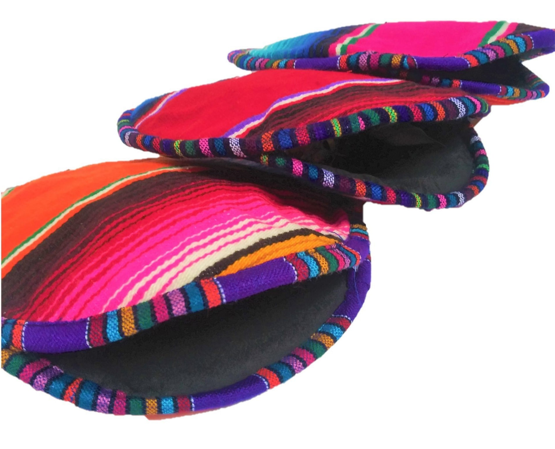 Insulated Mexican Serape Fabric Tortilla Warmer
