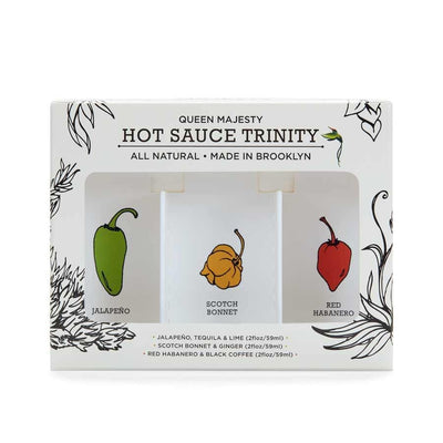 Queen Majesty Hot Sauce Trinity (3 x 2oz bottles)