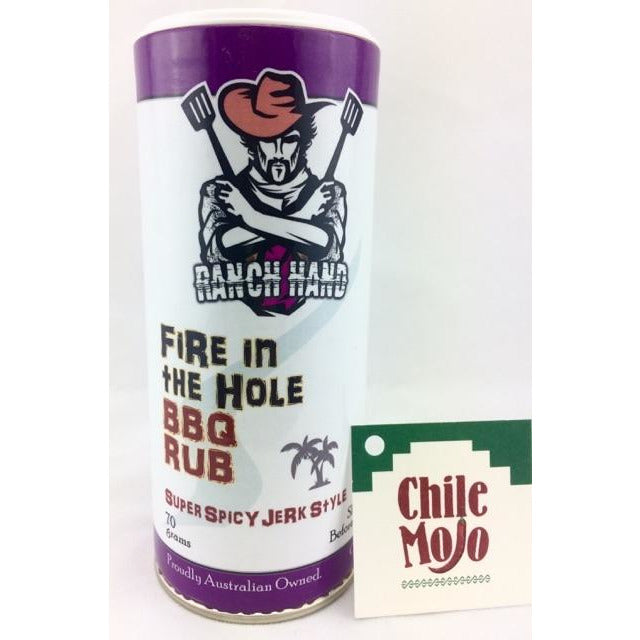 Ranch Hand Fire in the Hole Super Spicy Jerk BBQ Rub 70gm