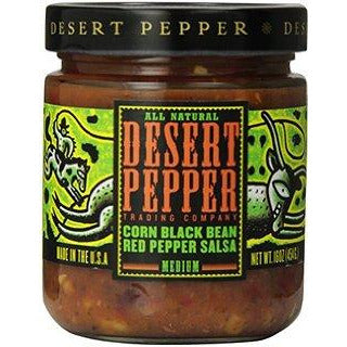 Desert Pepper Corn Black Bean Red Pepper Salsa 454gm