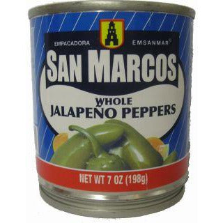 San Marcos Jalapeno whole canned 7oz