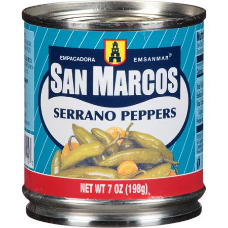 San Marcos Serrano whole canned