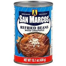 Beans San Marcos Refried Pinto with Chipotle 425gm