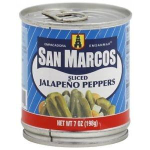 San Marcos Jalapeno long sliced canned 198gm (7oz)
