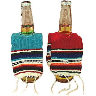 serape beer bottle poncho