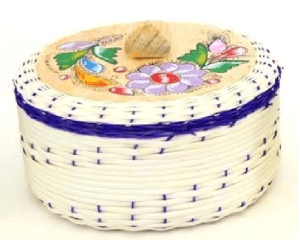 Woven Basket Tortilla Server