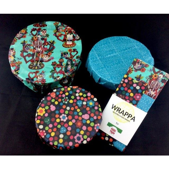 Wrappa Bees Day of the Dead Reusable Food Wraps - 3 pack