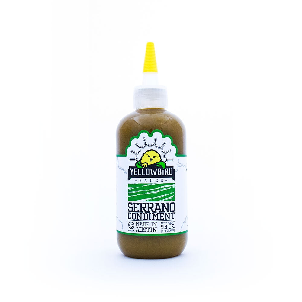 Yellowbird Sauce Serrano Condiment 9.8oz (278gm)
