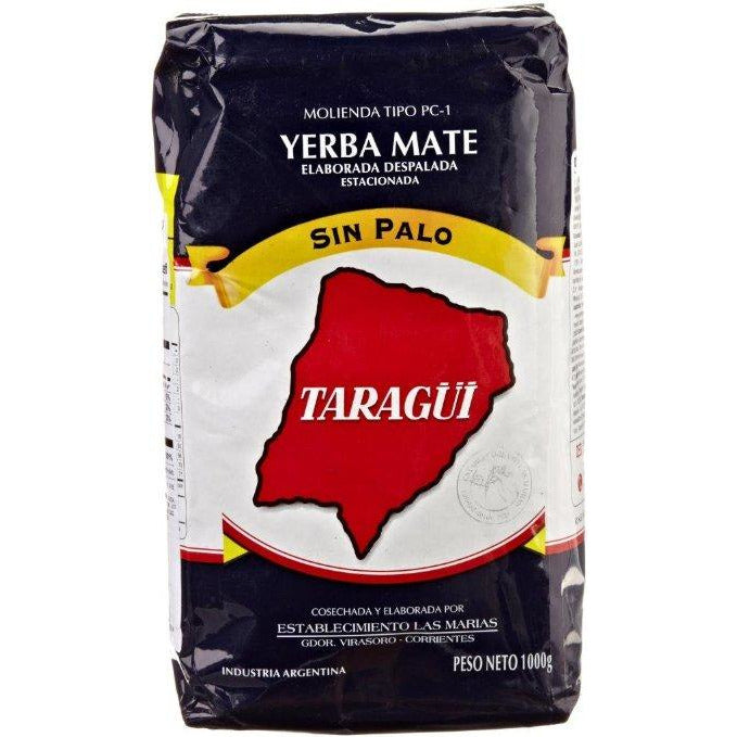 Yerba Mate 1kg Taragui Blue sin palo (without stems)