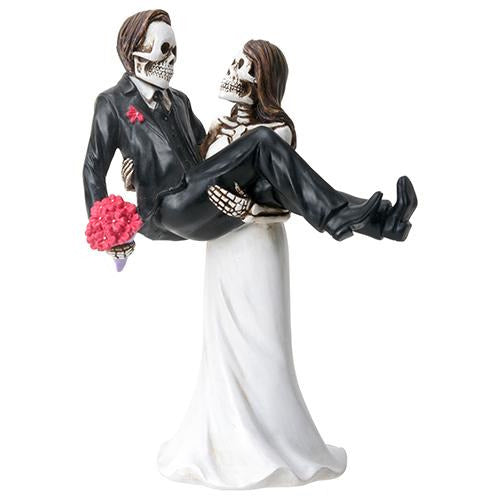 Day of the Dead Bride carrying Groom