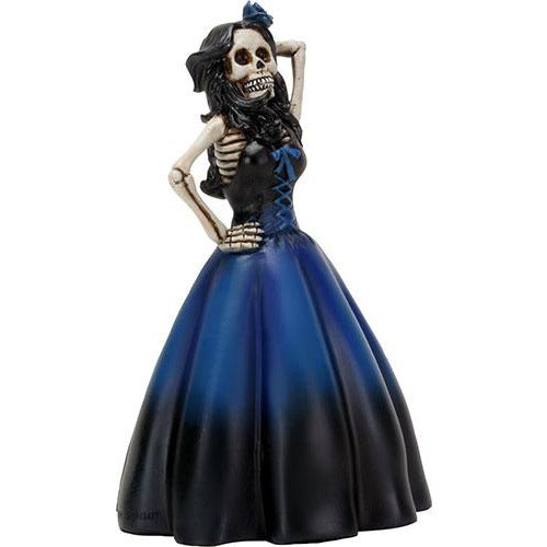 Day of the Dead figurine - Senorita Dressed in Blue