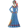 Day of the Dead Blue Senorita with Parrot
