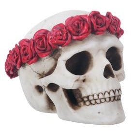 Day of the Dead figurine - flower skull