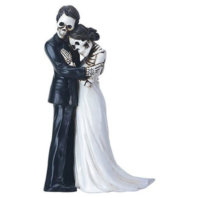 Day of the Dead figurine - wedding couple embracing
