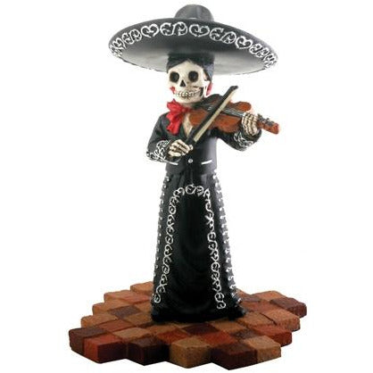 Day of the Dead figurine - Mariachi Senora with Violin