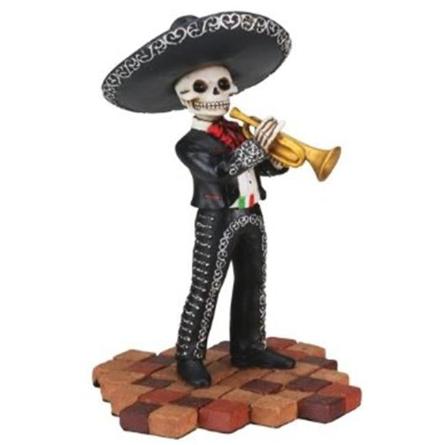 Day of the Dead figurine - Mariachi with Trumpet