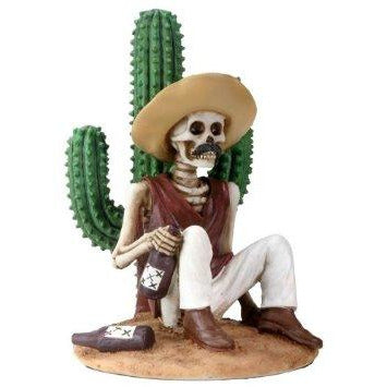 Day of the Dead figurine - Boracho and Cactus