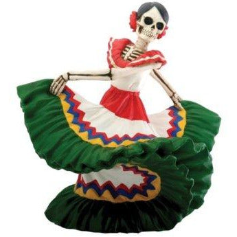 Day of the Dead Dancing Senorita Green