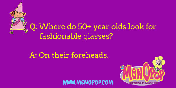 Where do 50+ year-olds look for fashionable glasses?