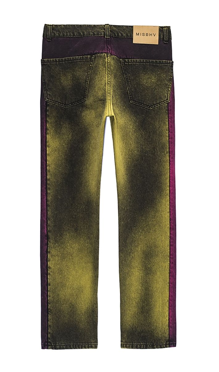 Acid Pink/Green Denim Cowboy Pants