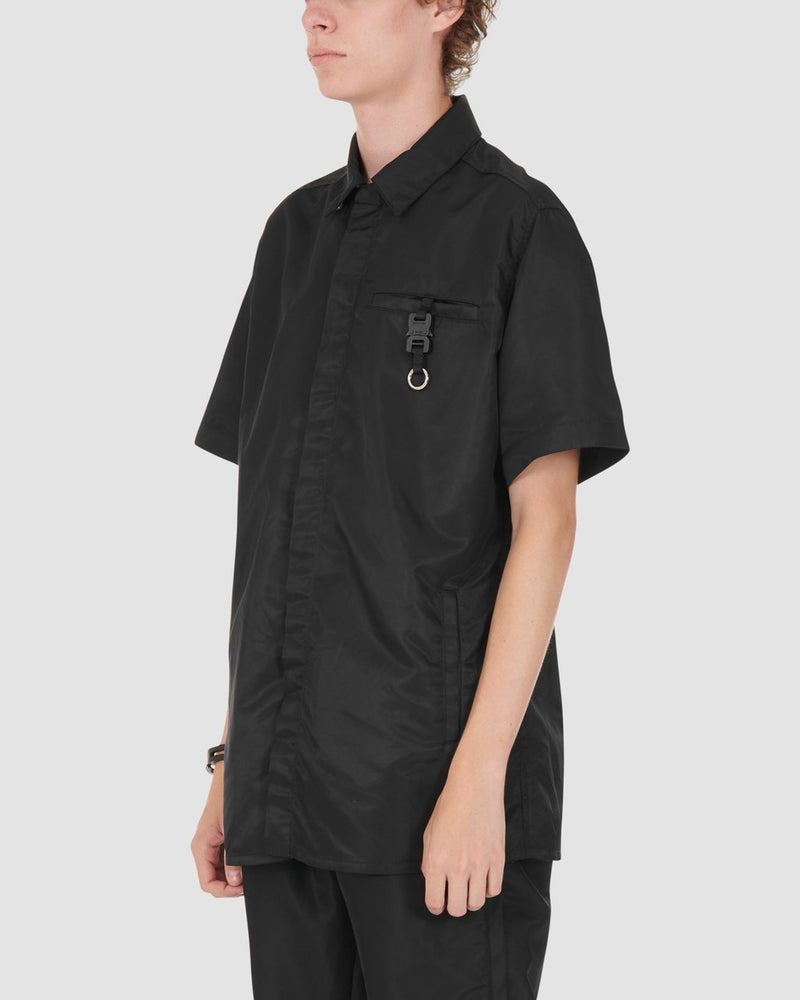 BLACK SS BUTTON UP W BUCKLE