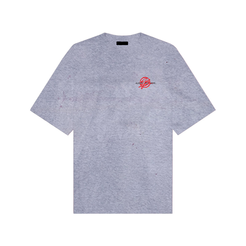 BARCELOS LOGO T-SHIRT - PURPLE GREY TIE DYE