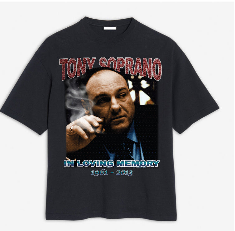 Black Tony Soprano Memory T-shirt