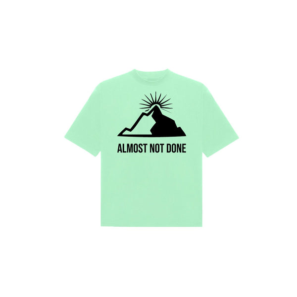 MOUNTAIN T-SHIRT MINT GREEN / BLACK