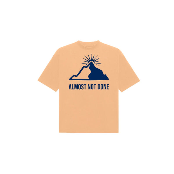 MOUNTAIN T-SHIRT OLD GOLD / NAVY
