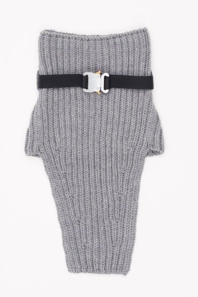 KNIT NECK WARMER W METAL BUCKLE