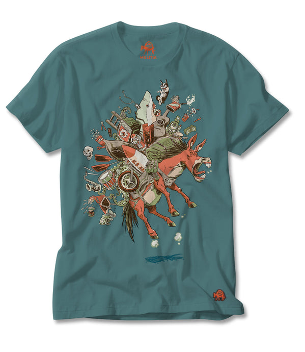 Jumping Jack (Artist Edition) Tee in Teal