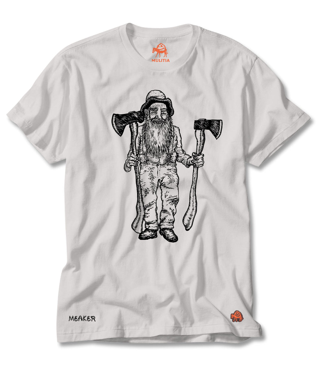 Axeman Tee in White