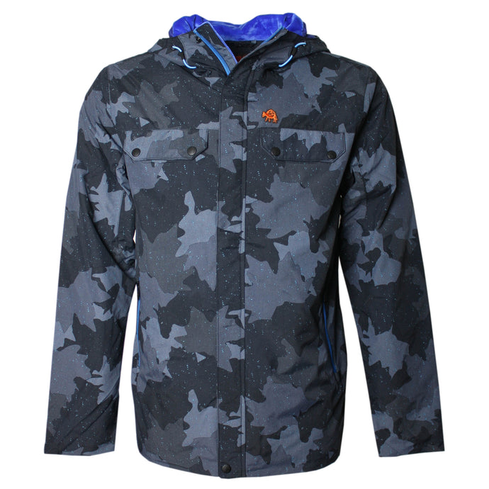 Comrad Jacket in Printed Leaf Camo
