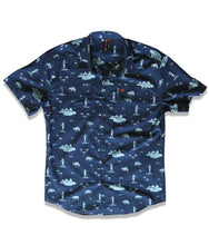 Load image into Gallery viewer, Jive Shirt in Navy Mule of the Nile Print