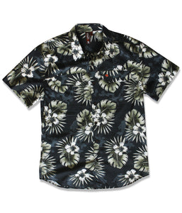 Jive Shirt in Black Oasis Print