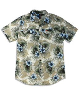 Jive Shirt in Khaki Oasis Print