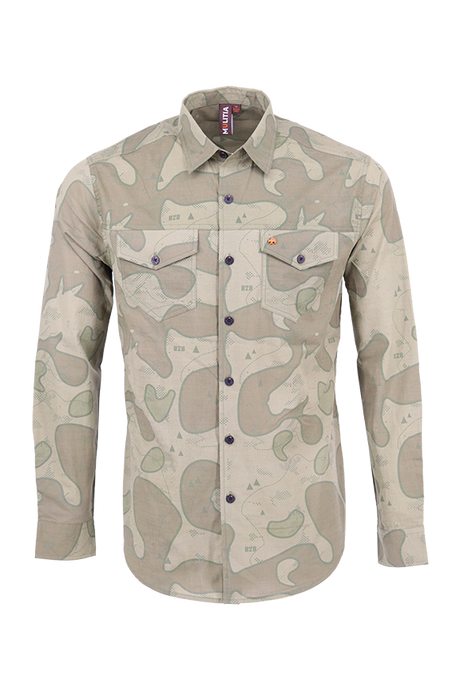 Vibe Slub Cotton Shirt in Olive Trail Camo