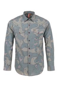 Vibe Slub Cotton Shirt in Forest Trail Camo Print