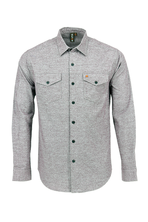 Vibe Flannel Shirt in Gritty Grey